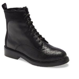 JEFFREY CAMPBELL Fischer Lace-Up Leather B…